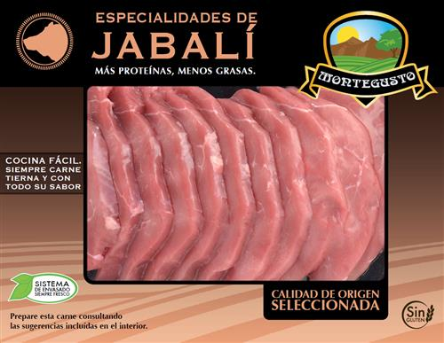 Filetes de pierna de jabalí